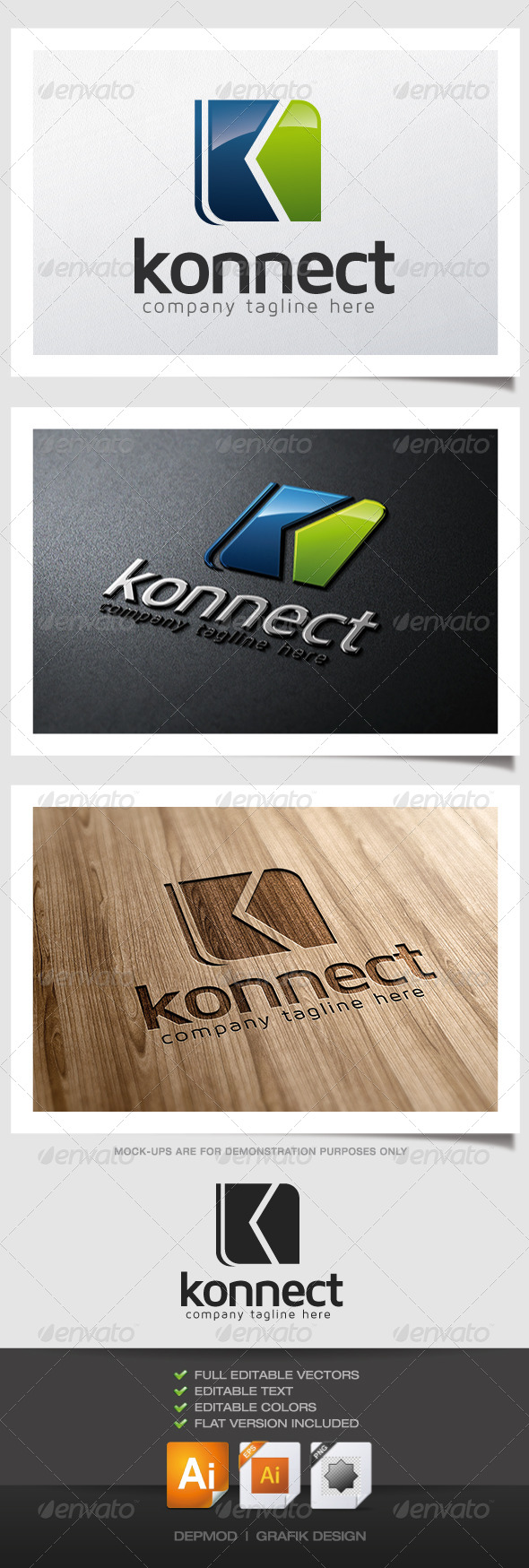 Konnect Logo - Abstract Logo Templates