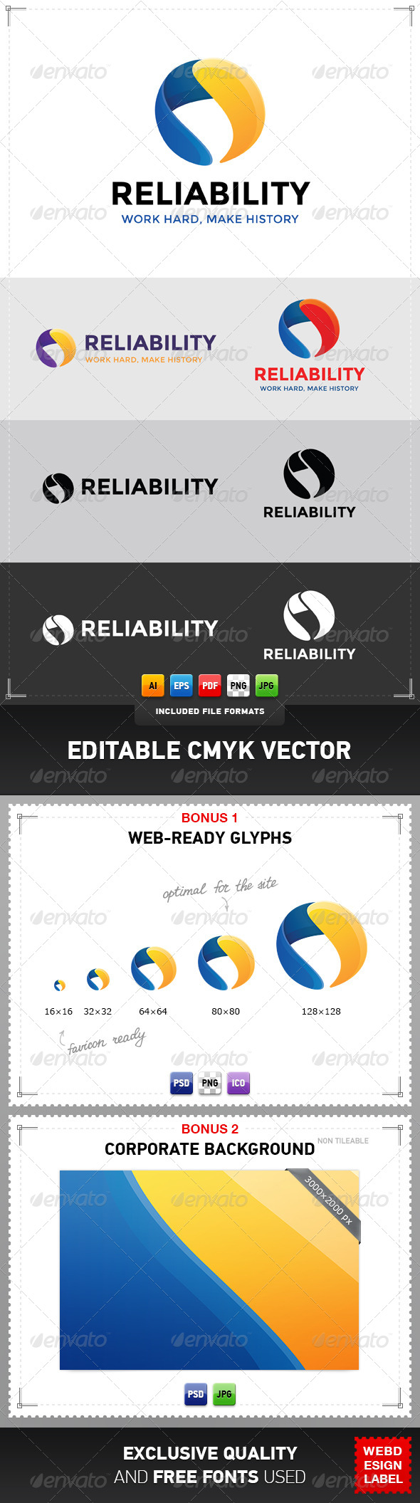 GraphicRiver Reliability Logo 5074383
