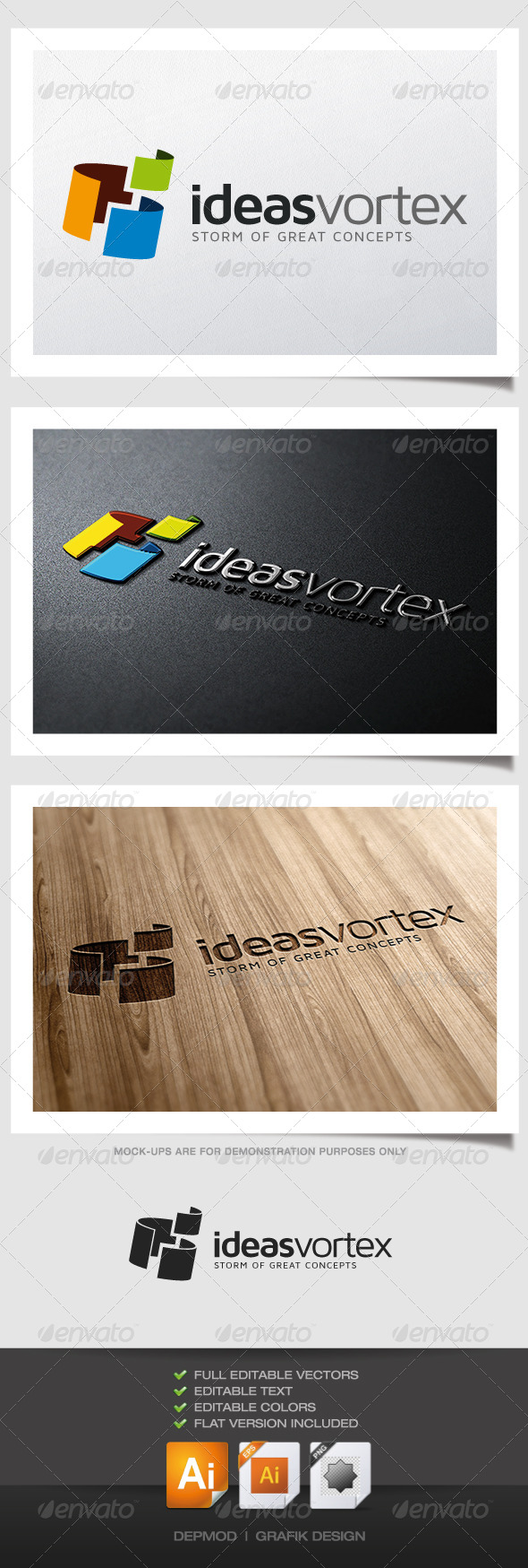Ideas Vortex Logo - Abstract Logo Templates