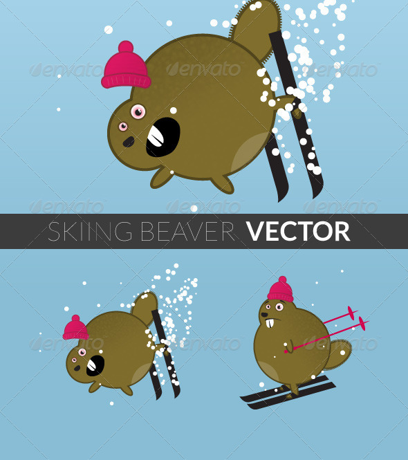 GraphicRiver Skiing Beaver 5080239