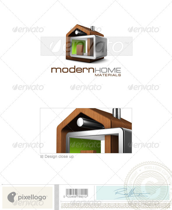 Logo Templates : Home & Office Logo 3D-512 GraphicRiver 524760 -  Abstract  3d