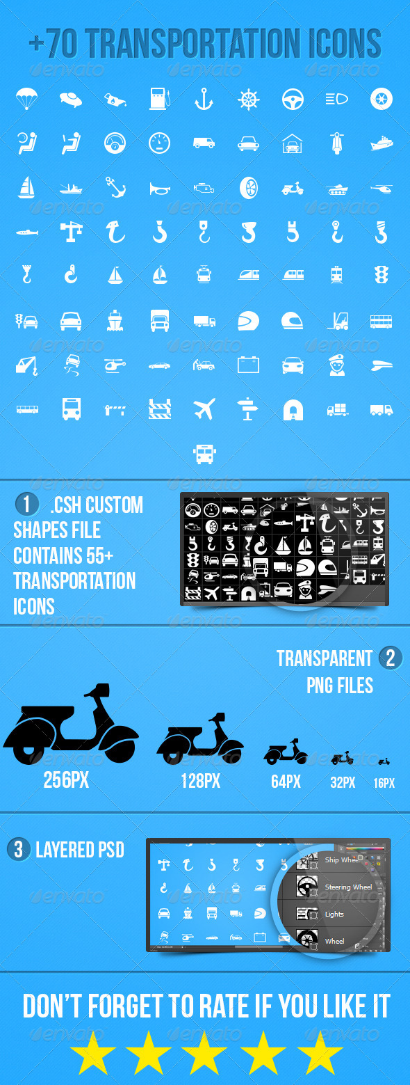 GraphicRiver Transportation Icons 5100930