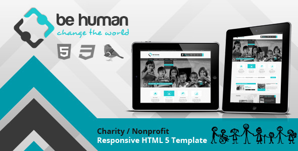 Be Human - Charity Crowdfunding & Store Theme - Charity Nonprofit