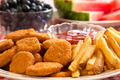 Chicken Nuggets and French Fries - PhotoDune Item for Sale