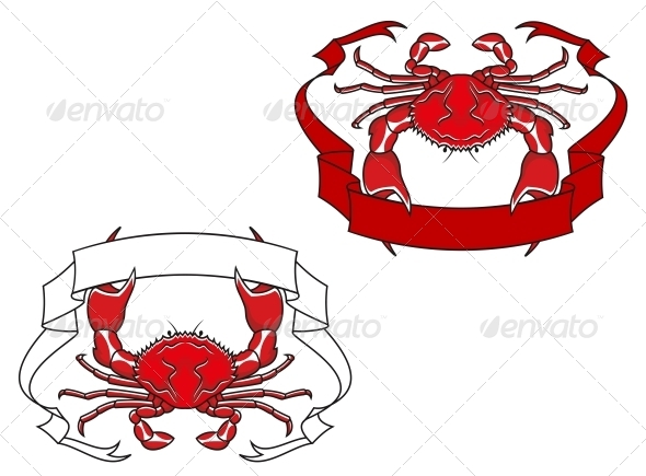 GraphicRiver Red Crab with Ribbon in Claws 5104124