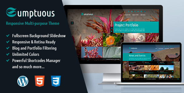 ThemeForest Sumptuous Responsive Multi-purpose Theme 4913367