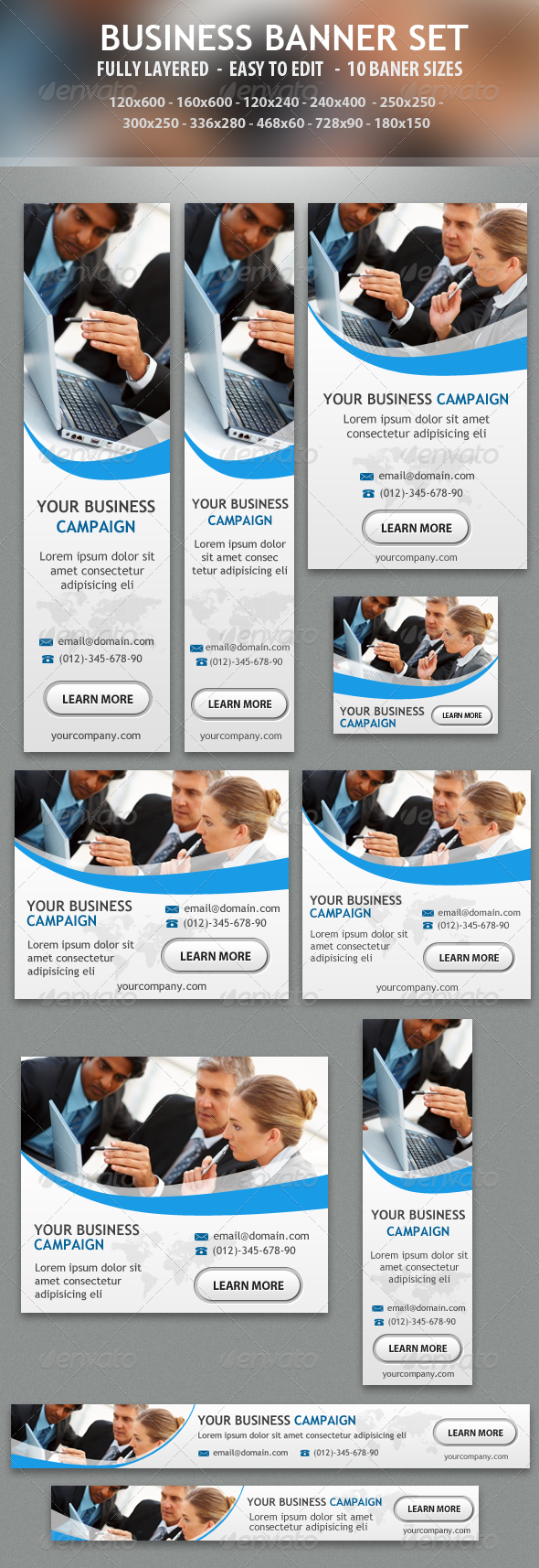 GraphicRiver Business Banner Ad Design 5104569