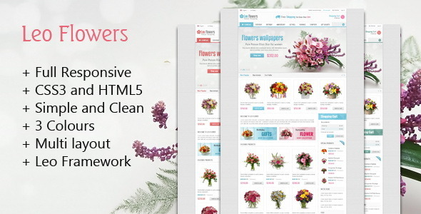 Leo Flowers Prestashop Theme - Fashion PrestaShop