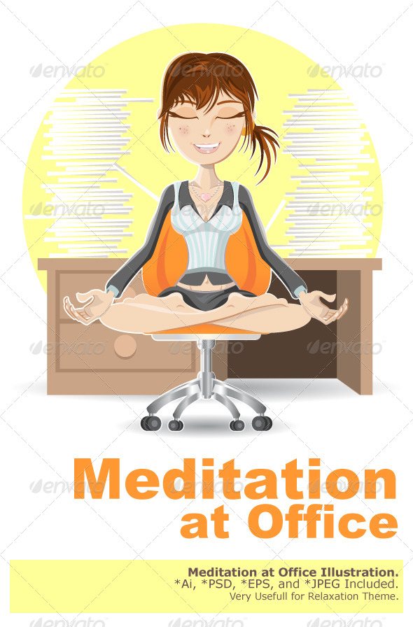GraphicRiver Meditation at the Office 5105009