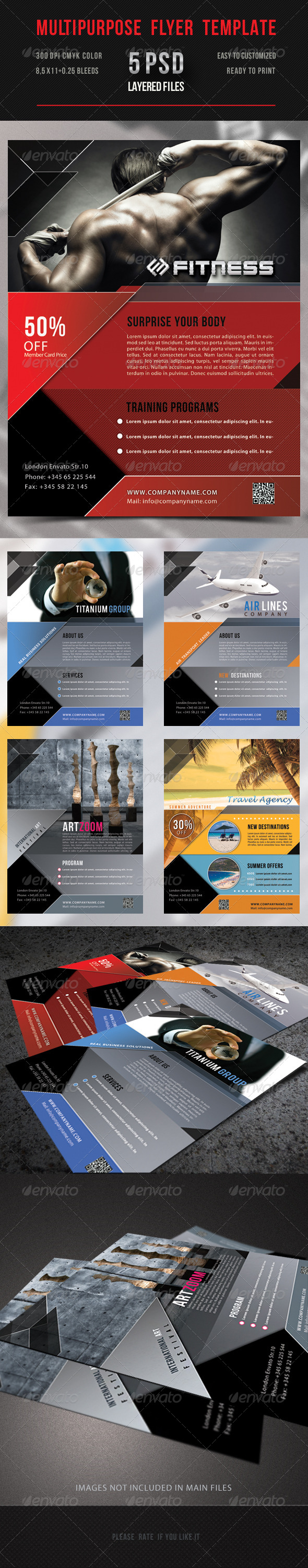 GraphicRiver Multipurpose Flyer Template 5105166