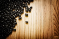 Black beans on wooden background - PhotoDune Item for Sale