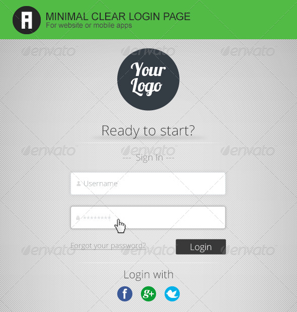GraphicRiver Minimal Clean Login Form 5078475