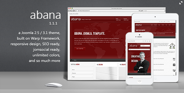 Abana - Premium JomSocial Ready Business Joomla Template - Business Corporate