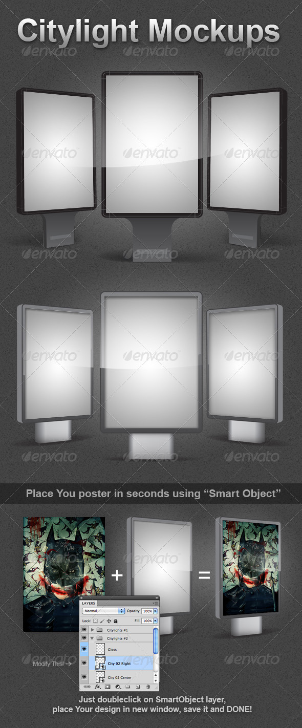 2 Citylight Mockups - Miscellaneous Displays