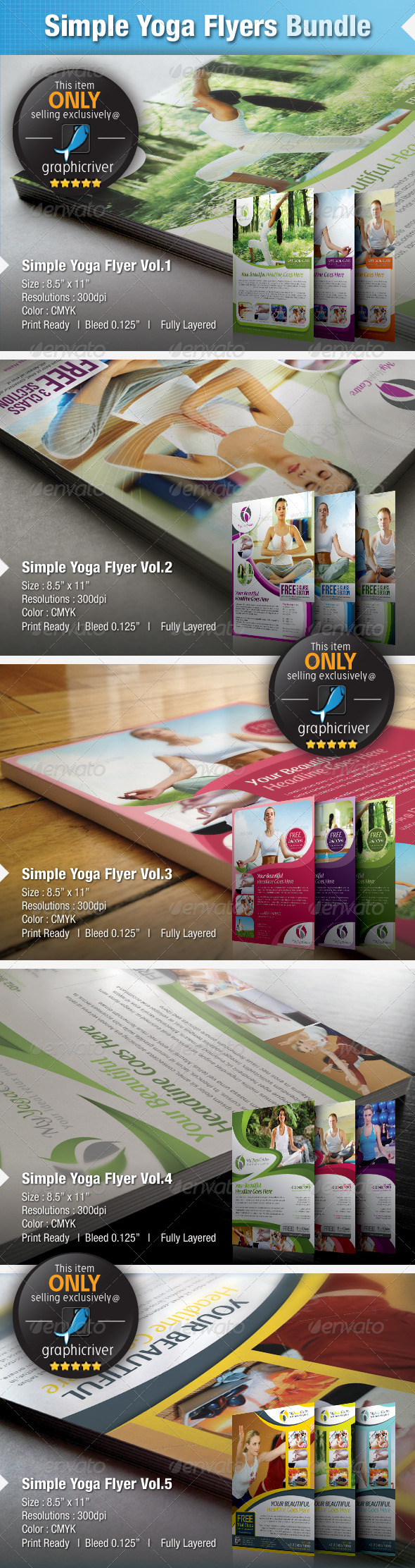 Simple Yoga & SPA Flyer Bundle - Sports Events