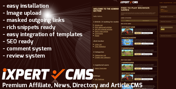 iXPERT.CMS - kraftig Content Management System - WorldWideScripts.net element for salg