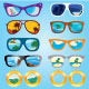 Summer Beach Reflection in Sunglasses - GraphicRiver Item for Sale