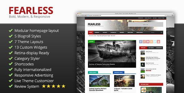 ThemeForest Fearless Bold Modern & Responsive Magazine 5100272