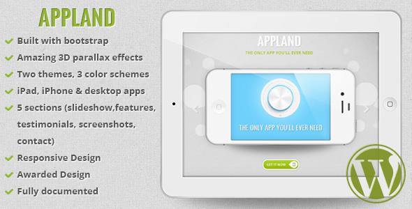 ThemeForest AppLand Bootstrap Parallax App Landing Theme 5101199