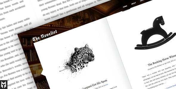 ThemeForest The Novelist Responsive WP Theme for Writers 526345