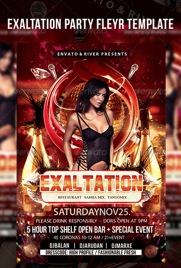 GraphicRiver Exaltation Party Flyer Template 4962681