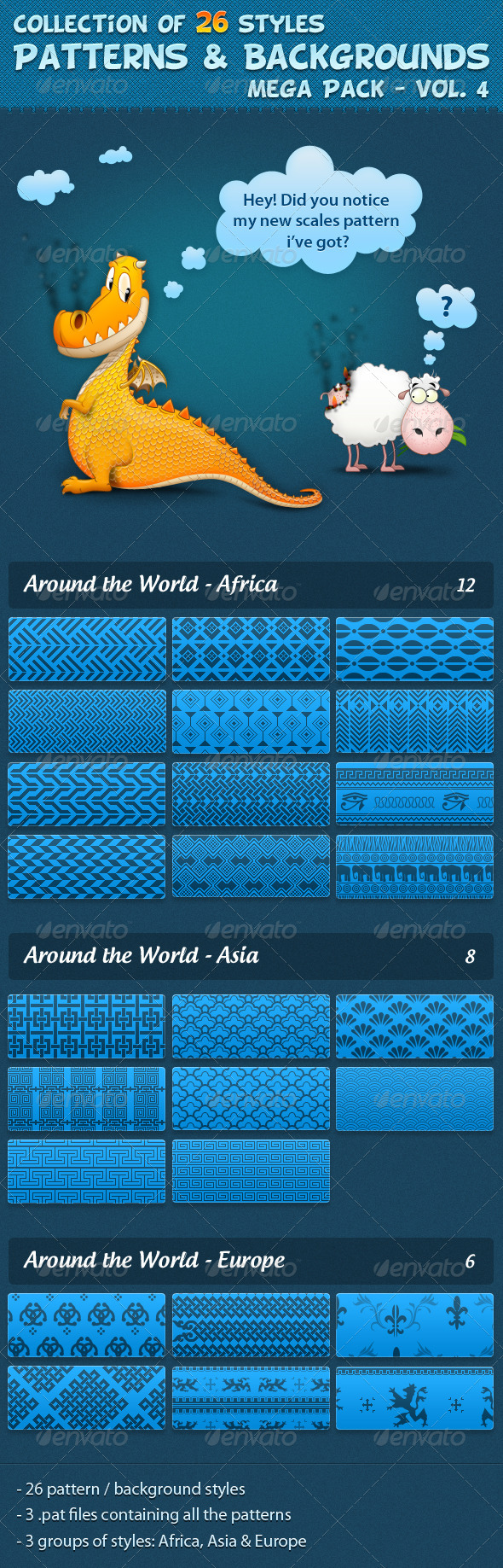 GraphicRiver Patterns vol 4 526503