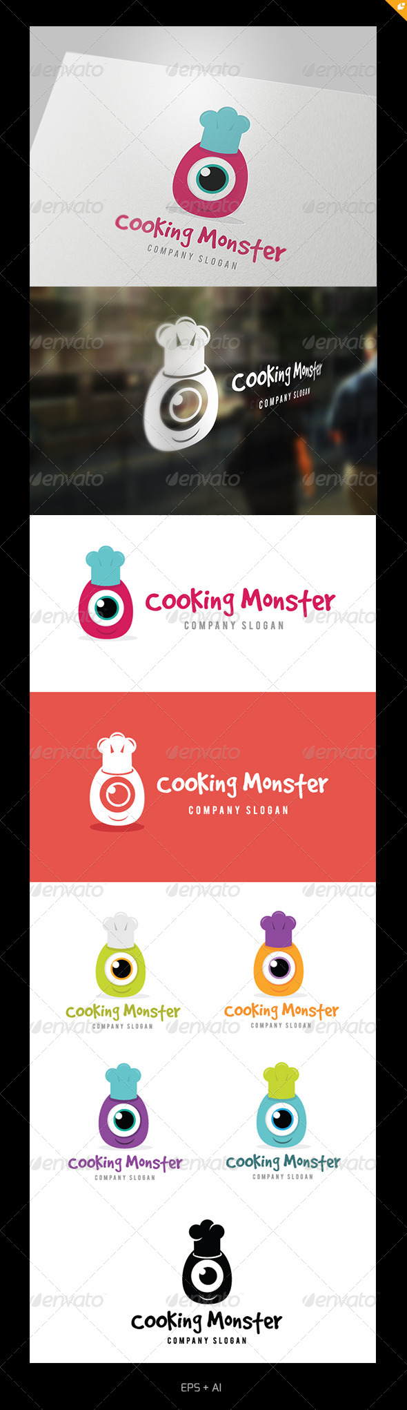 GraphicRiver Cooking Monster 5108493