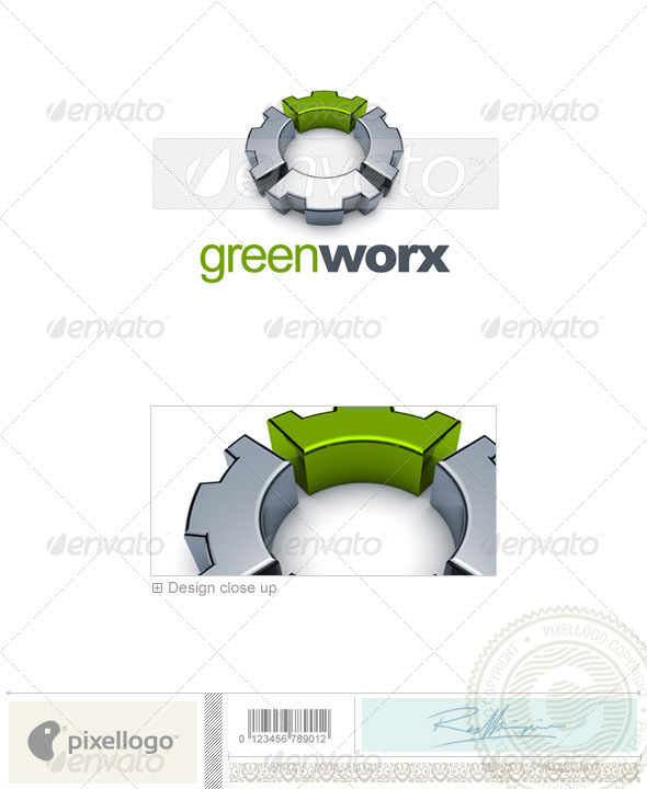 Industry & Science Logo - 3D-628 - 3d Abstract