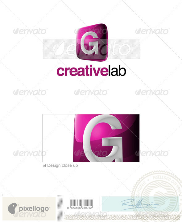 G Logo - 3D-687-G - Letters Logo Templates