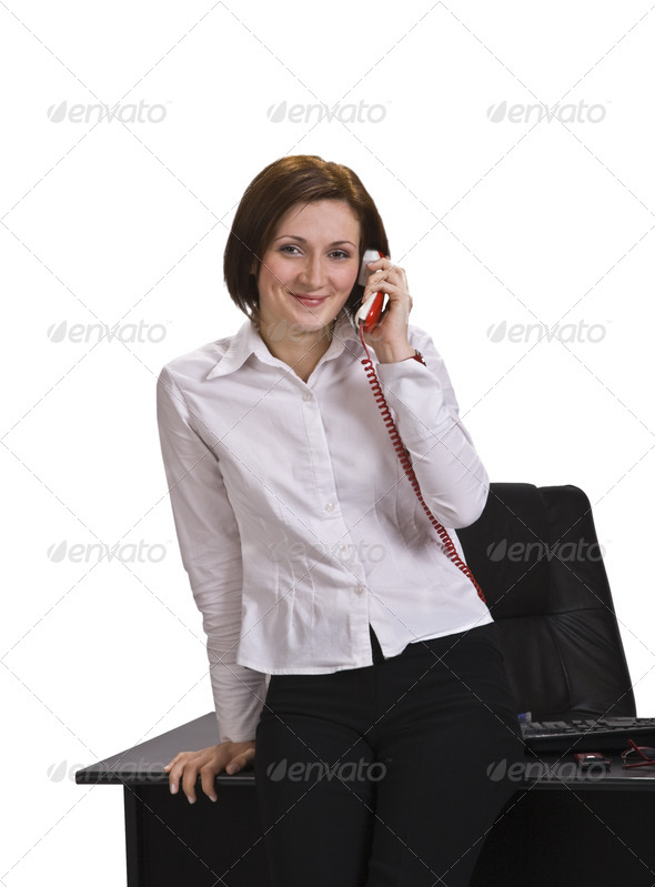 Businesswoman Calling - Stock Photo - Images