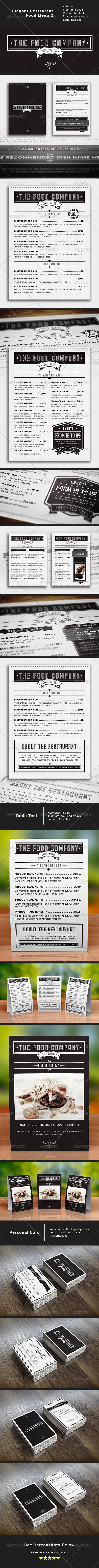 The Food Company Menu - Food Menus Print Templates
