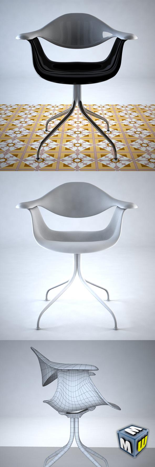 3DOcean Nelson Swag Leg Chair Max 2011 5111268