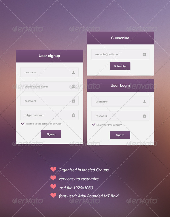 GraphicRiver Modern Web Forms 5111603