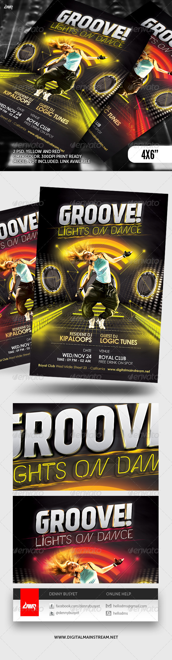 GraphicRiver Groove Dance Club Flyer Template 5111614