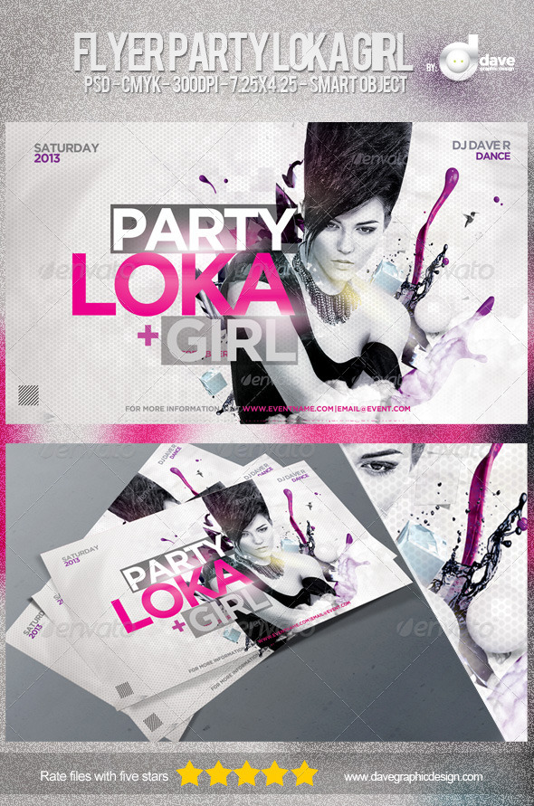 GraphicRiver Flyer Party Loka Girl 5056755