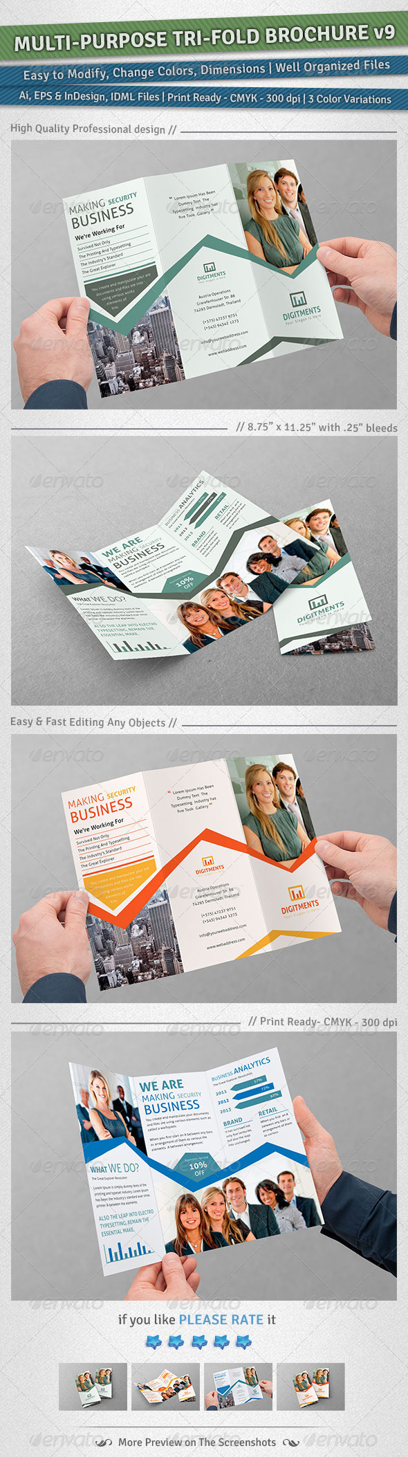 GraphicRiver Multi-purpose Tri-Fold Brochure Volume 9 5111810