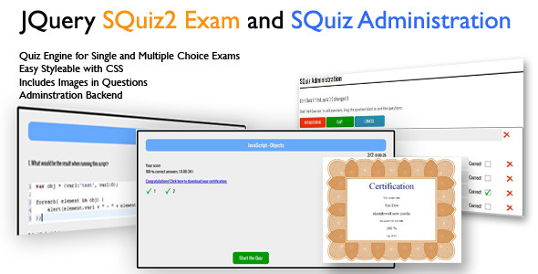 CodeCanyon JQuery Ajax SQuiz2 Exam Quiz Engine 5112133