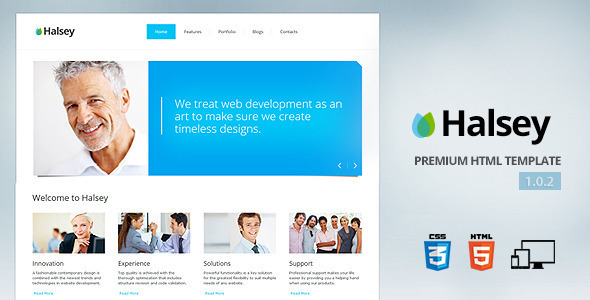 Halsey - Premium corporate template - Business Corporate