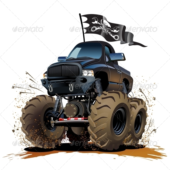 GraphicRiver Cartoon Monster Truck 5100037