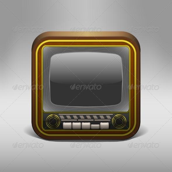 GraphicRiver Retro TV App Icon 5114132