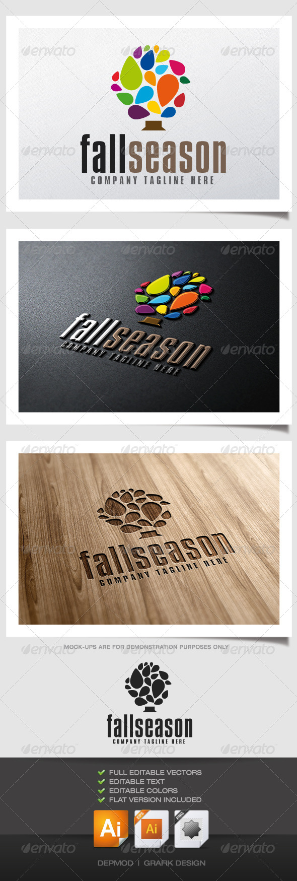 GraphicRiver Fall Season Logo 5115296
