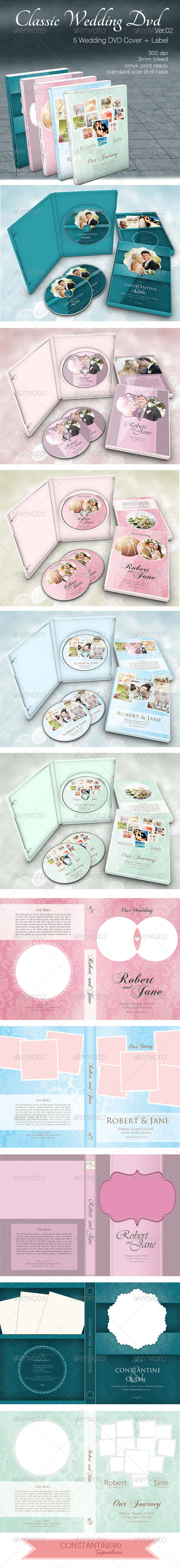 Classic Wedding Dvd ver02 - CD & DVD artwork Print Templates