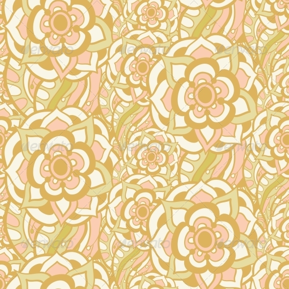 GraphicRiver Vintage Floral Seamless Pattern 5116149