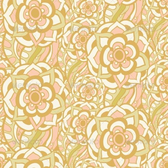 GraphicRiver Vintage Floral Seamless Pattern 5116149
