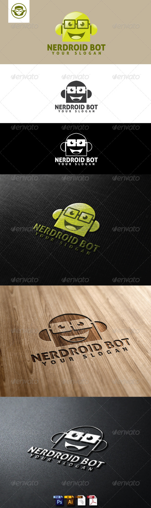GraphicRiver Nedroid Bot Logo Template 5116298