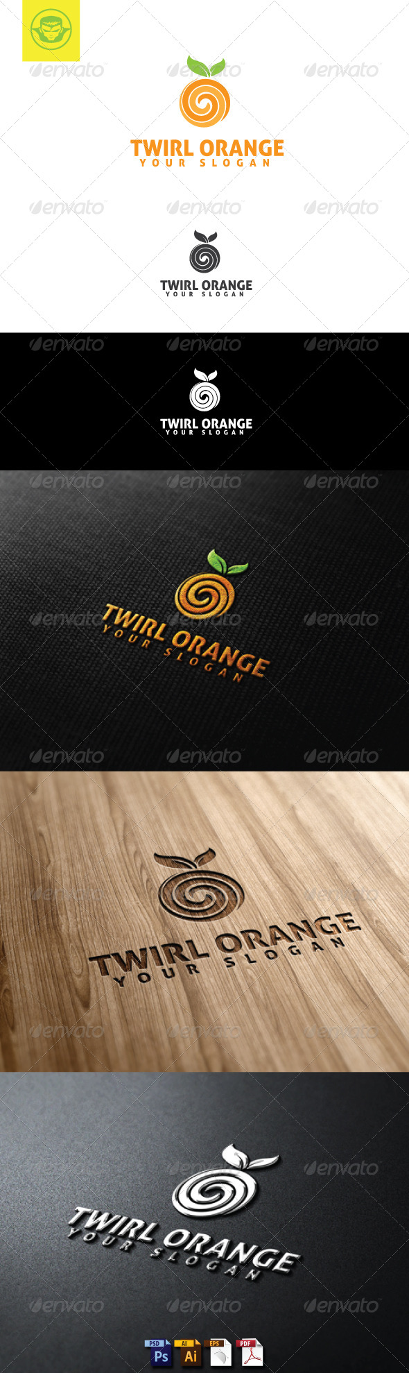 GraphicRiver Twirl Orange Logo Template 5107340