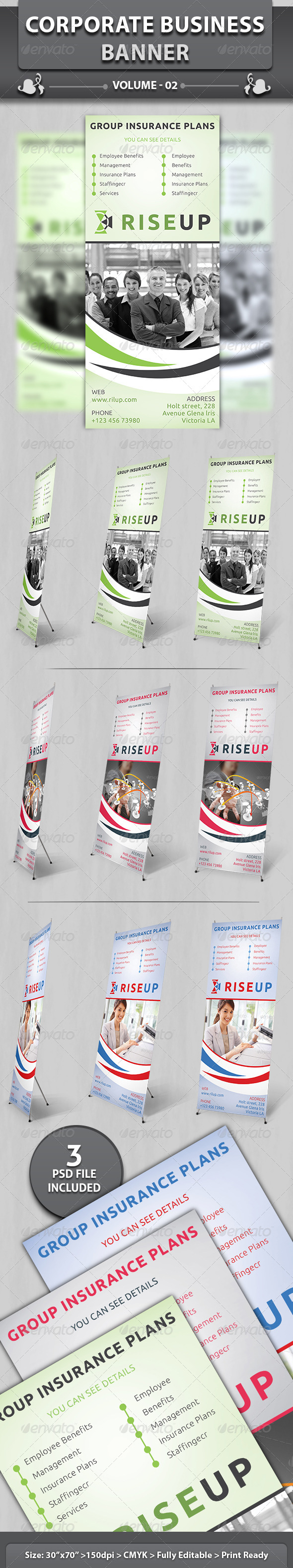 Corporate Business Banner | Volume 1 - Signage Print Templates