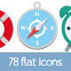 78 Flat Icons - GraphicRiver Item for Sale