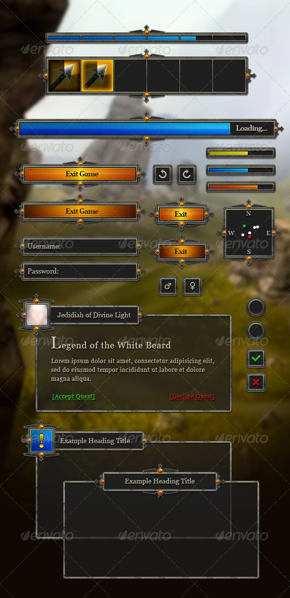 RPG User Interface - Illustrations Graphics