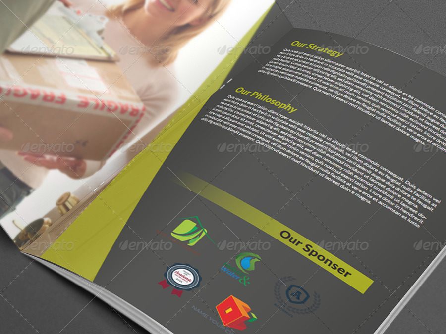 services brochure template .